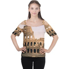 ROME COLOSSEUM Women s Cutout Shoulder Tee