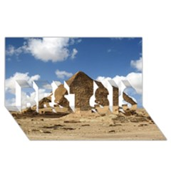 Pyramid Giza Best Sis 3d Greeting Card (8x4)