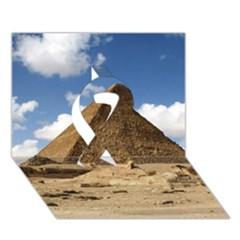 Pyramid Giza Ribbon 3d Greeting Card (7x5)