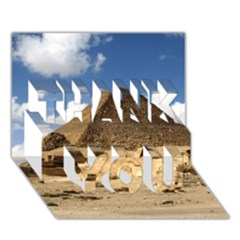 Pyramid Giza Thank You 3d Greeting Card (7x5)