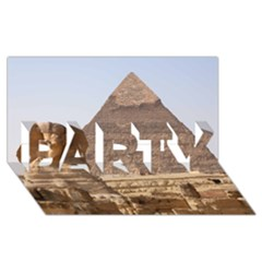 Pyramid Egypt Party 3d Greeting Card (8x4)