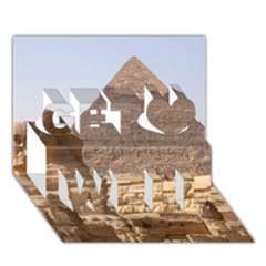 Pyramid Egypt Get Well 3d Greeting Card (7x5)