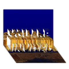 Parthenon 2 You Are Invited 3d Greeting Card (7x5)