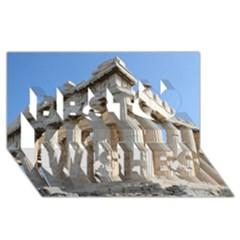 Parthenon Best Wish 3d Greeting Card (8x4)