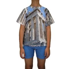 PARTHENON Kid s Short Sleeve Swimwear
