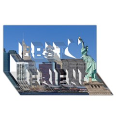 Ny Liberty 2 Best Friends 3d Greeting Card (8x4)