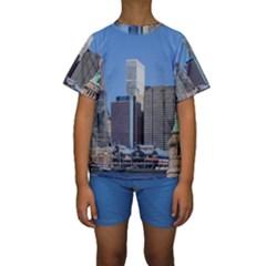 NY LIBERTY 2 Kid s Short Sleeve Swimwear