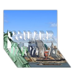 Ny Liberty 1 You Are Invited 3d Greeting Card (7x5)