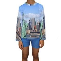 NY LIBERTY 1 Kid s Long Sleeve Swimwear