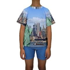 NY LIBERTY 1 Kid s Short Sleeve Swimwear
