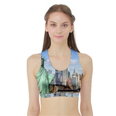 Ny Liberty 1 Women s Sports Bra With Border