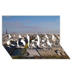 Notre Dame Sorry 3d Greeting Card (8x4)