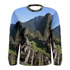 Machu Picchu Men s Long Sleeve T Shirts