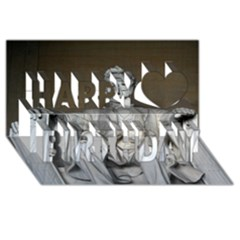 Lincoln Memorial Happy Birthday 3d Greeting Card (8x4)
