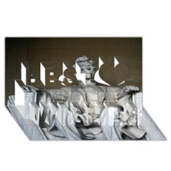 Lincoln Memorial Best Wish 3d Greeting Card (8x4)