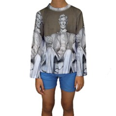 LINCOLN MEMORIAL Kid s Long Sleeve Swimwear