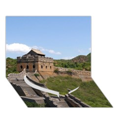 Great Wall Of China 3 Heart Bottom 3d Greeting Card (7x5)