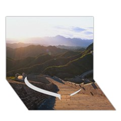 Great Wall Of China 2 Heart Bottom 3d Greeting Card (7x5)