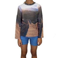 Great Wall Of China 2 Kid s Long Sleeve Swimwear