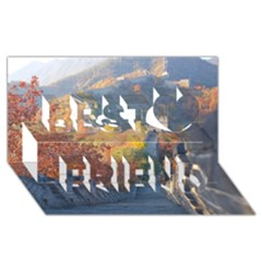 Great Wall Of China 1 Best Friends 3d Greeting Card (8x4)