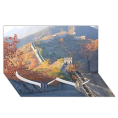 Great Wall Of China 1 Twin Heart Bottom 3d Greeting Card (8x4)