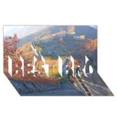 Great Wall Of China 1 Best Bro 3d Greeting Card (8x4)