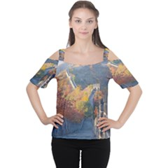 GREAT WALL OF CHINA 1 Women s Cutout Shoulder Tee