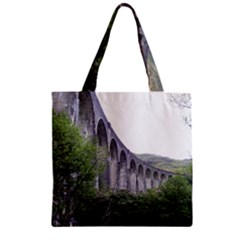 Glenfinnan Viaduct 2 Zipper Grocery Tote Bags