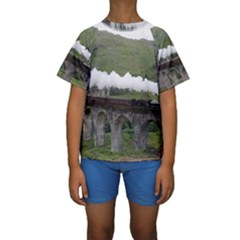 Glenfinnan Viaduct 1 Kid s Short Sleeve Swimwear