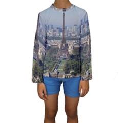 Eiffel Tower 2 Kid s Long Sleeve Swimwear