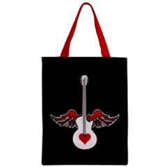 Flying Heart Guitar Classic Tote Bag