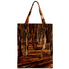 Wood Shadows Zipper Classic Tote Bags