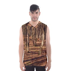 Wood Shadows Men s Basketball Tank Top