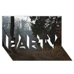 Twilight Road Party 3d Greeting Card (8x4)