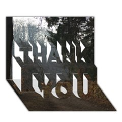 Twilight Road Thank You 3d Greeting Card (7x5)