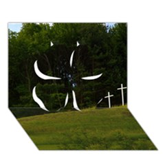 Three Crosses On A Hill Clover 3d Greeting Card (7x5)