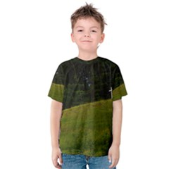 THREE CROSSES ON A HILL Kid s Cotton Tee