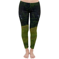 Three Crosses On A Hill Winter Leggings