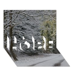 Snow On Road Hope 3d Greeting Card (7x5)