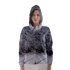 SNOW ON ROAD Hooded Wind Breaker (Women)