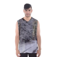 SNOW ON ROAD Men s Basketball Tank Top