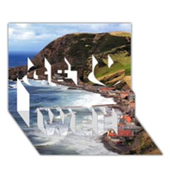 Scotland Crovie Get Well 3d Greeting Card (7x5)