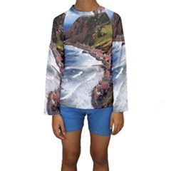 Scotland Crovie Kid s Long Sleeve Swimwear