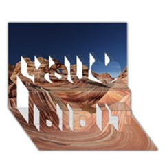 Petrified Sand Dunes You Did It 3d Greeting Card (7x5)