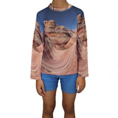 Petrified Sand Dunes Kid s Long Sleeve Swimwear