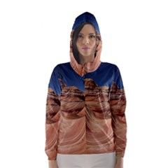 Petrified Sand Dunes Hooded Wind Breaker (Women)