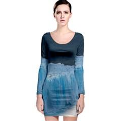 Perito Moreno Glacier Long Sleeve Bodycon Dresses