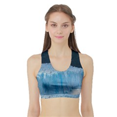 Perito Moreno Glacier Women s Sports Bra With Border