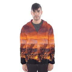 ORANGE SUNSET Hooded Wind Breaker (Men)