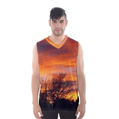 ORANGE SUNSET Men s Basketball Tank Top